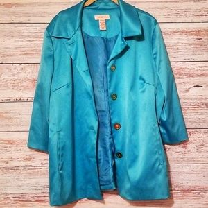 Covington Jacket Coat Turquoise button down XL